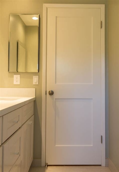 white interior  panel shaker door iowa remodels