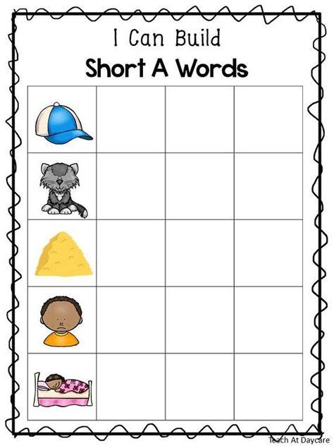 printable   build cvc words work matsworksheets