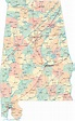 Printable Map of State Road Map of Alabama, Road Map ...