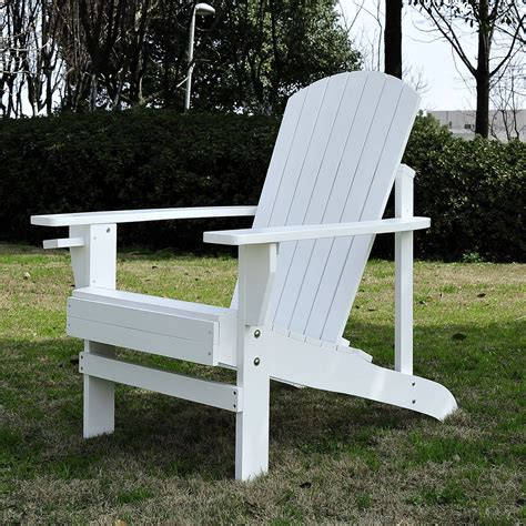 chaise longue en bois fauteuil de jardin adirondack chaise longue chaise plage avec tabouret en bois inclinable 97l x