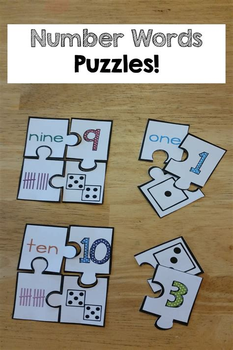 Number Words & Number Sense Printables And Activities Numbers 010  Number Words, Kids