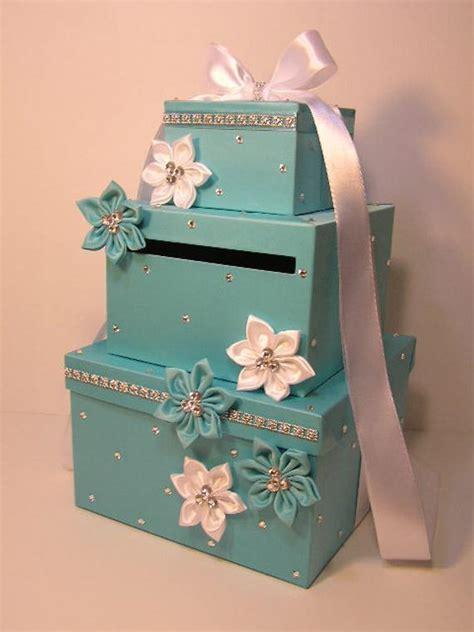 wedding card box blue gift card box money box holderspecial