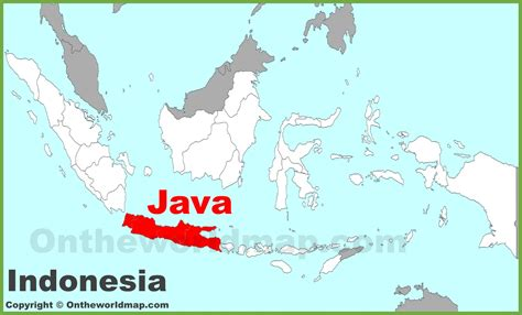 java location   indonesia map