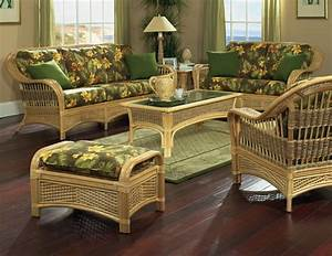 Rattan furniture tropical breeze style tropical for Cane furniture for living room