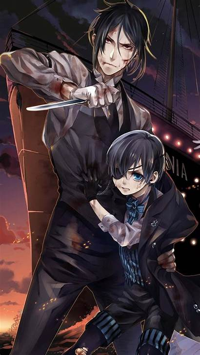 Butler Anime Sebastian Ciel Wallpapers Kuroshitsuji Undertaker