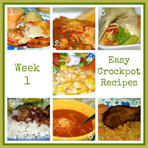 crockpot recipes easy easy recipes two weeks of crockpot meals a slob comes clean