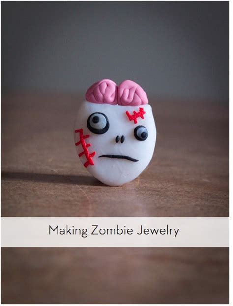 zombie jewelry  sculpting clay curbly