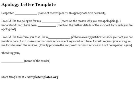 apology letter template sample letters pinterest