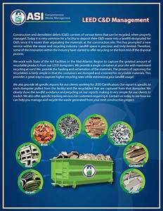 Leed recycling services asi waste for Asi construction documents