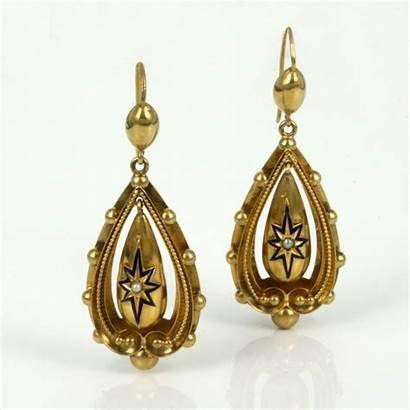 Earrings Gold Antique Victorian Kalmarantiques Items