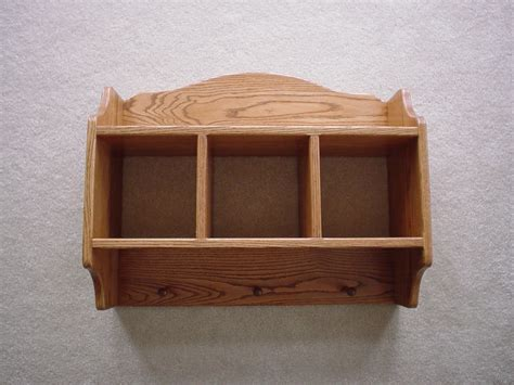 Rustic Wood Wall Shelves Made From Varnished Teak Wood And