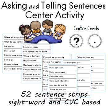 telling sentences center  sailing
