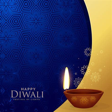 premium diwali greeting background  decorative diya