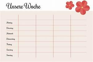 Wochenplan Haushalt Familie : wochenplan vorlage pdf zum ausdrucken kribbelbunt ~ Markanthonyermac.com Haus und Dekorationen