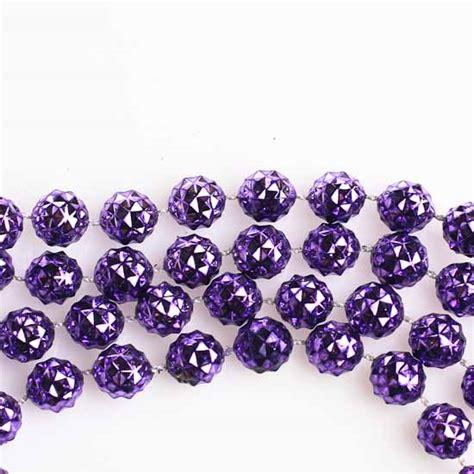 10mm metallic purple faceted bead garland 9 feet