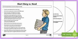 Short Story Vs  Novel Venn Diagram Activity Sheet