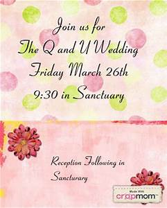 four year olds q and u wedding invitation With q and u wedding invitations