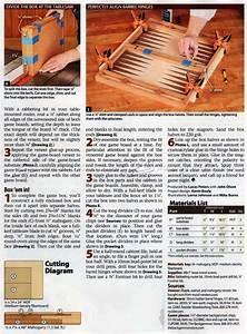 #2071 Backgammon Board Plans • WoodArchivist