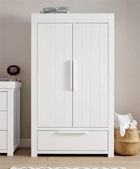 White Wardrobe by Franklin 2 Door Wardrobe With Drawer White Mamas