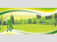Tennis Sports Green Field Background, Tennis Player, Grass
