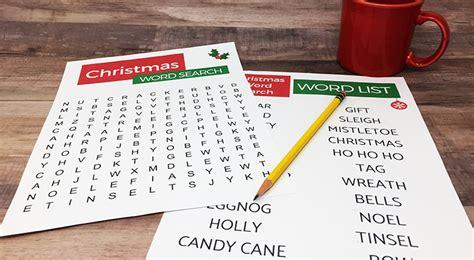 Christmas Word Search Printable For Seniors