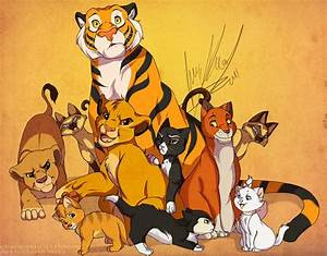 Disney Felines - Cats Fan Art (37227029) - Fanpop