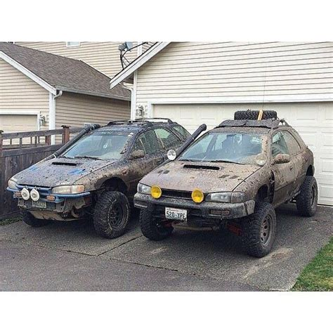 subaru forester offroad tuning two jacked up wrx s adventure mobile subaru cars