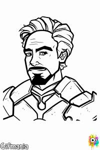 Tony Stark Iron Man Coloring Page
