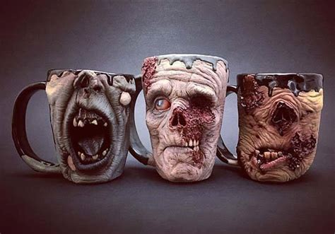 The Zombie Mugs Show off Realistic and Creepy Detailing   Gadgetsin