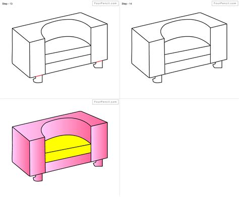 How To Draw Armchair For Kids Step By Step Drawing