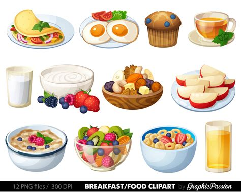 Breakfast Clip Meal Clipart Breakfast Pencil And In Color Meal Clipart