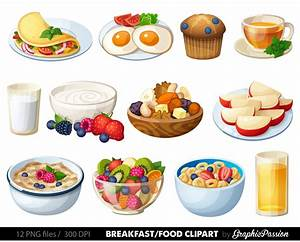 Breakfast Clipart Food clipart Dessert clipart Food clip ...