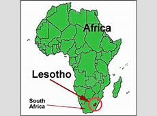 Map Of Lesotho Africa