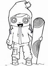Coloring Snowboarding Winter Snowboard Clothes Skiing Drawing Getdrawings Getcolorings Printable Haircuts Colorings sketch template