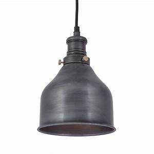 Vintage industrial style small cone pendant light dark