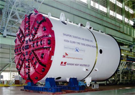 slurry shield machines ordered  singapores