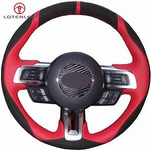 LQTENLEO Black Suede Red Leather Hand stitched Car ...