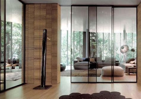 cloison en verre cloison coulissante en verre ou bois pour la maison moderne