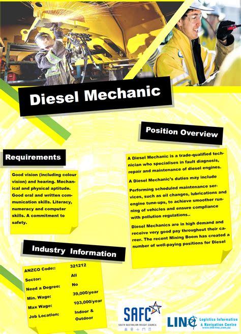 Mechanics Information by Diesel Mechanic Linc Logistics Information Navigation
