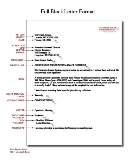 Cover Letter Format Spacing by Business Letter Format Spacing Exles And Forms