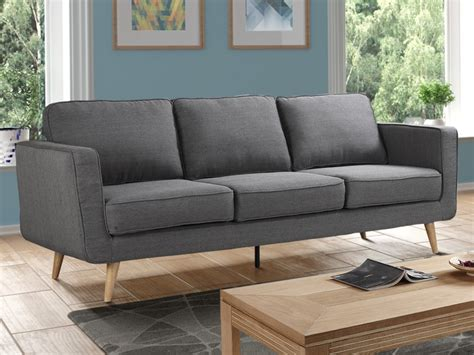 canapé 3 places 2 places canapé 3 places tissu classique gris achat en ligne pas cher