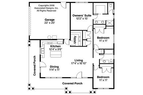 craftsman open floor plans craftsman house plans tealwood 30 440 associated designs