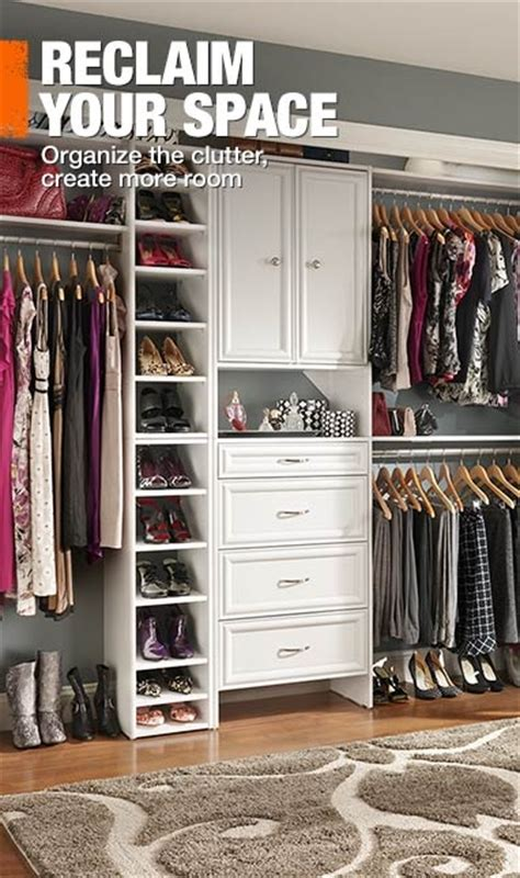 walk in closet organizers home depot