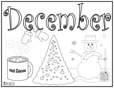 15 winter coloring pages for sing laugh learn