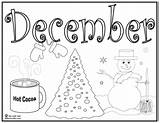 Coloring December Pages Winter Printable Print Chocolat Holiday Christmas Sheets Colouring Adults January Printables Info Activity September Discover sketch template
