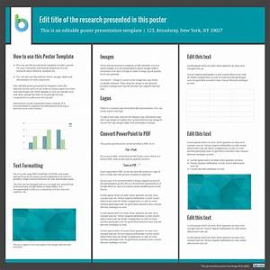 Presentation poster templates free powerpoint templates for How to make a poster template in powerpoint