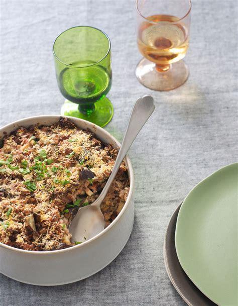 recette de cuisine avec aubergine gratin de riz complet aux aubergines pour 4 personnes