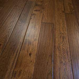Hickory hand scraped prefinished solid wood flooring 5quotx3 for Prefinished solid hardwood flooring