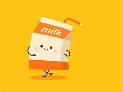 Milk Dribbble Animation Cartoon Gifs Happy Motion