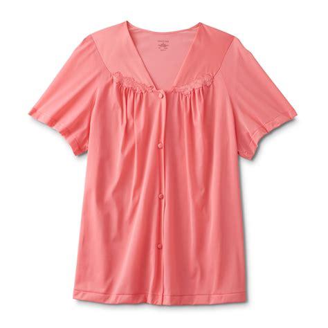 vanity fair s coloratura sleepwear sleeve pajama set 90107